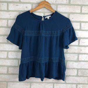JohnPaulRichard Boho Style Blouse Top Size Small S